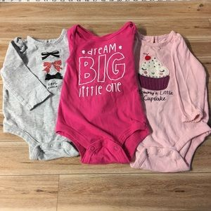 Other - Lot of 3 Long Sleeve Onesies 6-12 Months